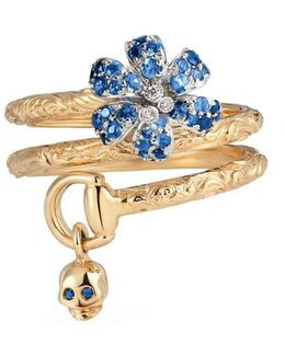 Flora Ring With Sapphires
