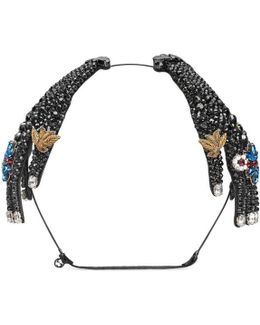 Hairband In Metal With Crystals
