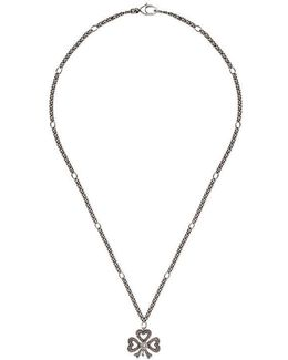 Necklace In Silver With Bow Pendant