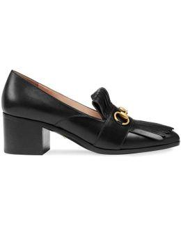 Leather Mid-heel Loafer