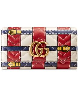 Gg Marmont Trompe L'oeil Continental Wallet