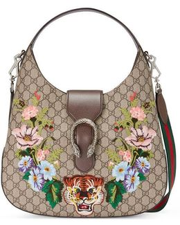 Dionysus Embroidered Medium Gg Supreme Hobo