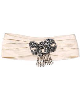 Silk Headband With Bow