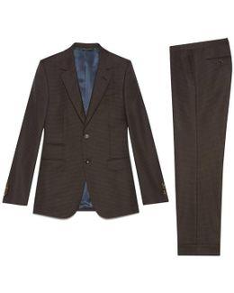 New Marseille Dot Print Wool Suit