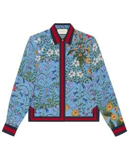 New Flora Print Silk Shirt