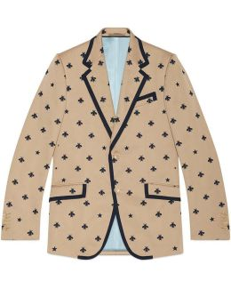 Heritage Jacket With Bees And Stars