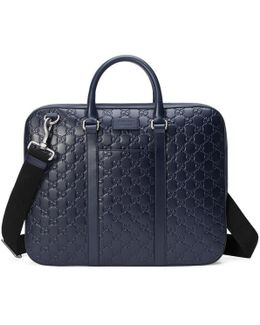 Signature Leather Briefcase