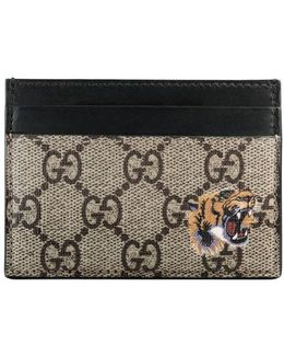 Tiger Print Gg Supreme Card Case