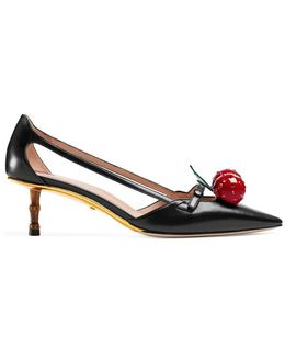 Leather Cherry Pump