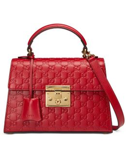 Padlock Signature Top Handle Bag