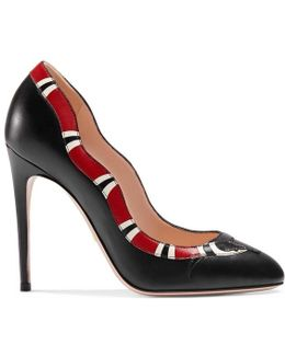 Leather Snake Pump