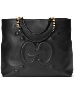 Embossed Gg Leather Tote