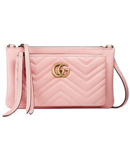 Gg Marmont Shoulder Bag With Pouch
