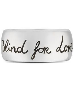 Blind For Love Ring In Silver