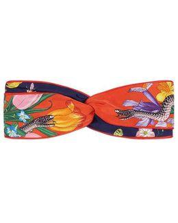 Flora Snake Print Headband