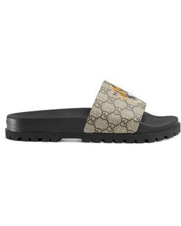 Gg Supreme Tiger Slide Sandal