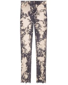 Embroidered Stretch Denim Skinny Pant