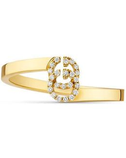 Gg Ring In Yellow Gold With Diamonds