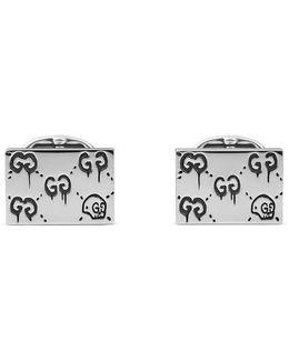 Ghost Cufflinks In Silver