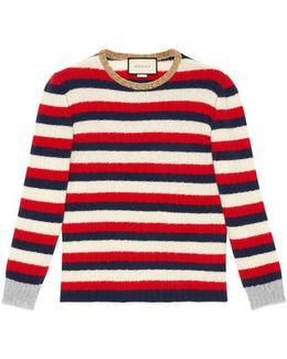 Striped Cashmere Merino Knit Top