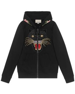 Embroidered Hooded Sweatshirt With Logo
