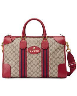 Soft Gg Supreme Duffle Bag With Web