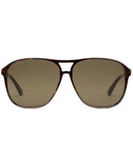 Specialized Fit Aviator Acetate Sunglasses
