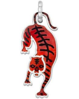 Tiger Charm In Silver