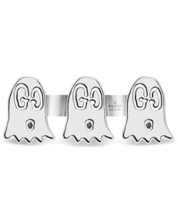 Ghost Double Finger Ring In Silver