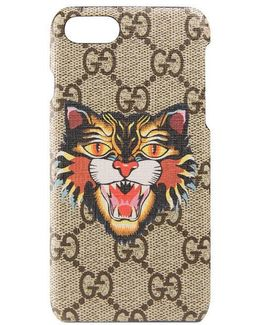 Angry Cat Print Iphone 7 Case