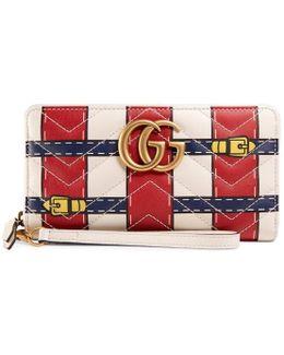 Gg Marmont Trompe L'oeil Zip Around Wallet