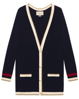 Embroidered Oversize Knit Cardigan
