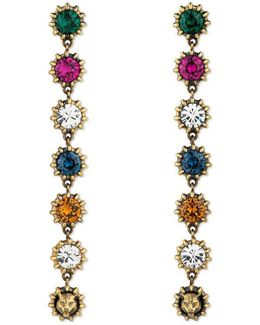 Pendant Earrings With Crystals