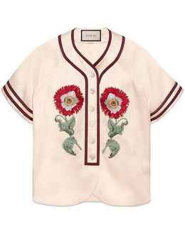Embroidered Duchesse Shirt