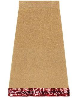 Sequin Gold Lurex Skirt