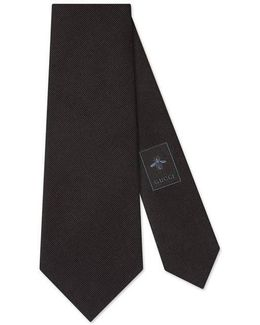 Angry Cat Underknot Silk Tie