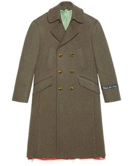 Wool Coat With Painted Buttons