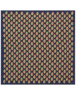 Gg Wallpaper Print Silk Pocket Square