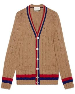 Wool Cable-knit Cardigan