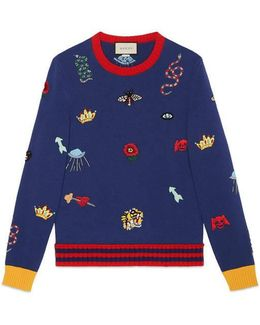 Wool Sweater With Embroideries
