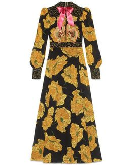 Yellow Poppy Print Gown
