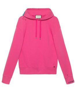 Cotton Sweatshirt With Appliqué