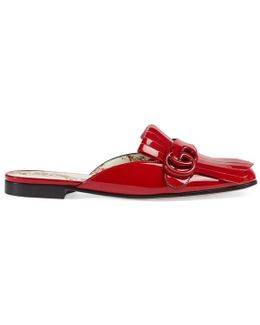 Marmont Patent Leather Slipper