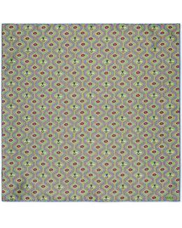 Pearl Eyes Print Silk Pocket Square