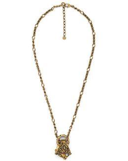 Interlocking Rings Necklace In Metal