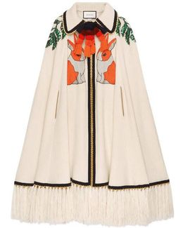 Embroidered Wool Cashmere Cape