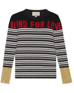 """Blind For Love"""" Striped Knit Top"""
