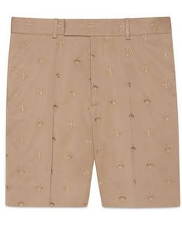 Cotton Short With Bee