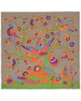 Jubilee Print Modal Silk Gg Shawl