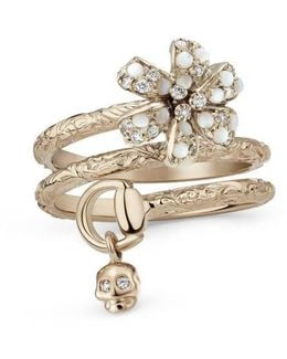 Flora Ring With Diamonds